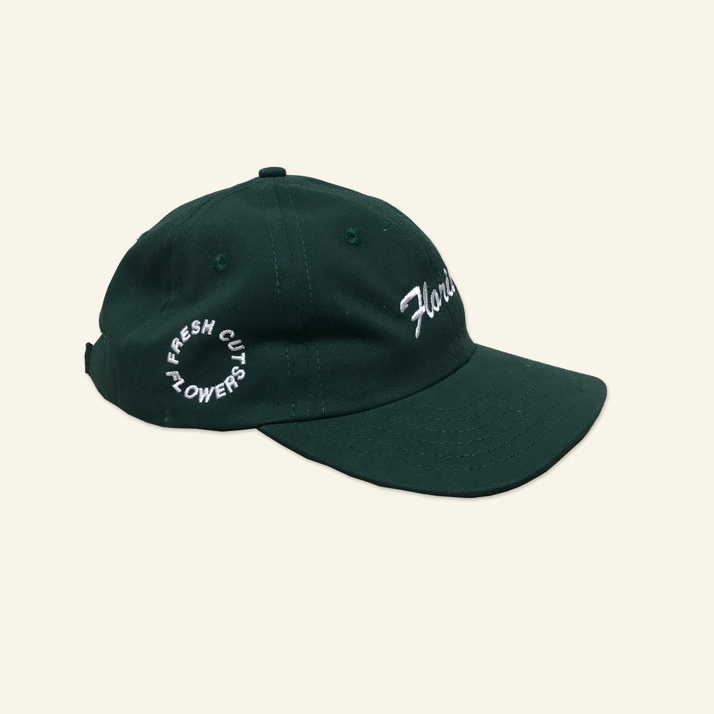 Load image into Gallery viewer, Florist 6 Panel Cap - Hunter Green