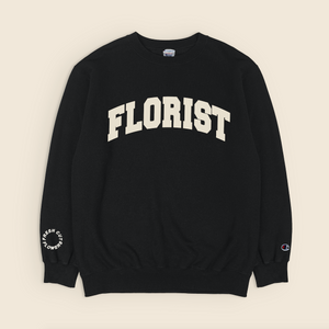 Load image into Gallery viewer, Florist Crewneck - Black