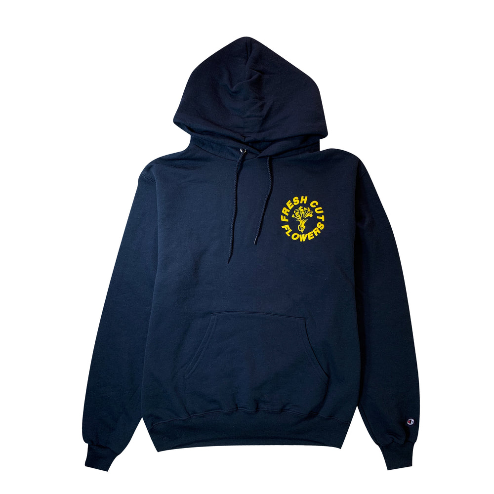 Give Flowers Champion® Hoodie - Navy