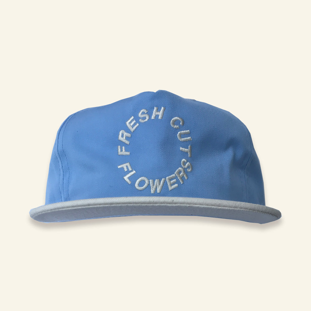 Load image into Gallery viewer, Circle Logo Snapback - Baby Blue / Natural