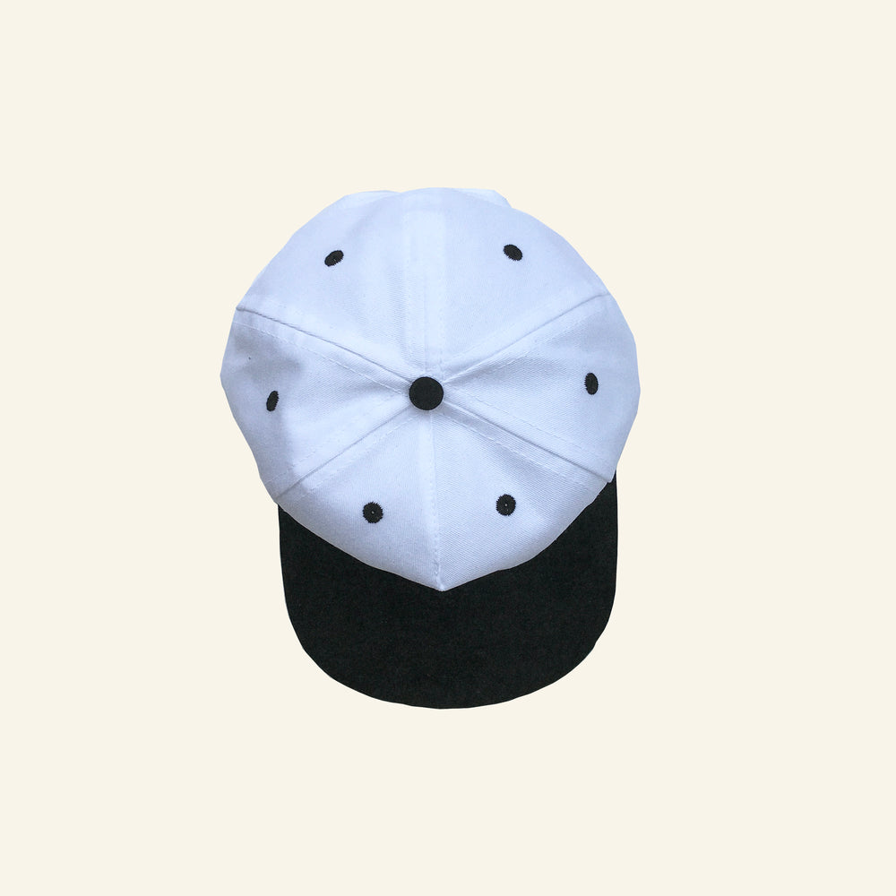 Circle Logo Snapback - White/Black