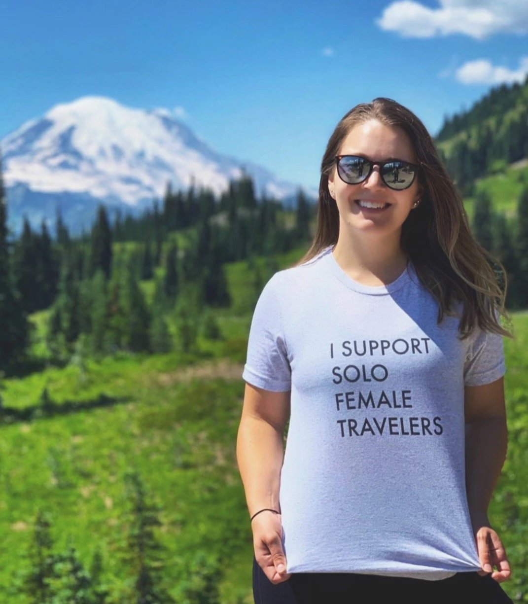 I Support Solo Female Travelers Triblend T-Shirt