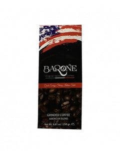 BARONE Drip Ground Coffee, 8.81 oz, ITALIAN LIGHT ROAST/ AMERICAN BLEND