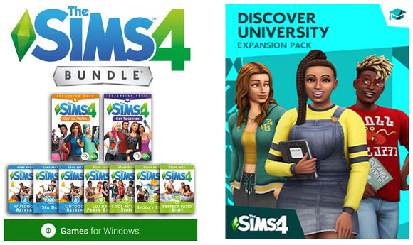 The Sims 4 Deluxe Bundle Collection + Discover University, Tiny Living and More Expansions PC Download Video Game Windows