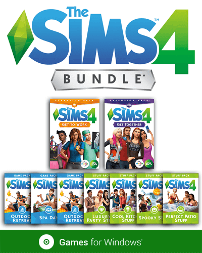 The Sims 4 Deluxe Collection with Cats & Dogs Expansion, Laundry Day, Jungle Adventure