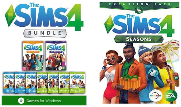 The Sims 4 Deluxe Collection + Seasons Expansions PC Video Game Windows Download
