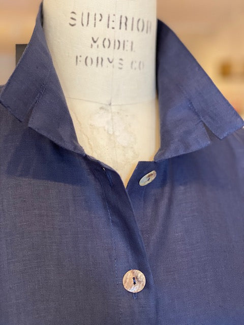 Orchard Shirt  -  Linen  -  Notch Collar  -  Midnight