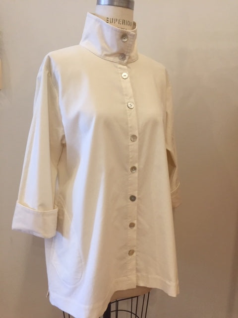 Orchard  Shirt - Ivory Cotton Corduroy