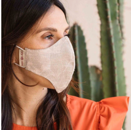 Face Mask - Narni Linen Natural  -  In Stock