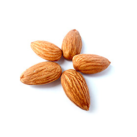 <p>Almonds contain healthy fats, fiber, protein, magnesium and Vitamin E. The health benefits include lower blood pressure levels, reduced blood pressure and lower cholesterol levels.</p>