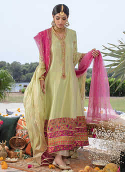 Mint & Pink Anarkali Formal