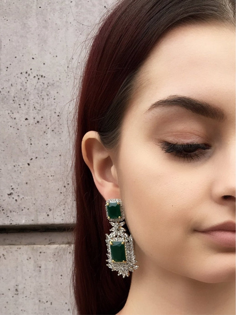 product-three-layer-emerald-princess-pendant-necklace-and-earrings-set-gold-plated-bridal-jewelry-set-kamal-beverly-hills