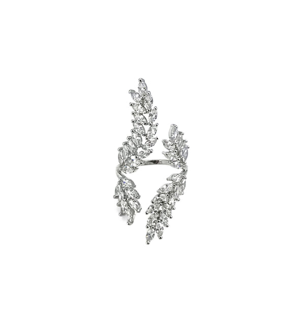 Leafy 2 Way Cocktail Ring