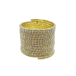 Gold Crystal Wrap Around Bracelet