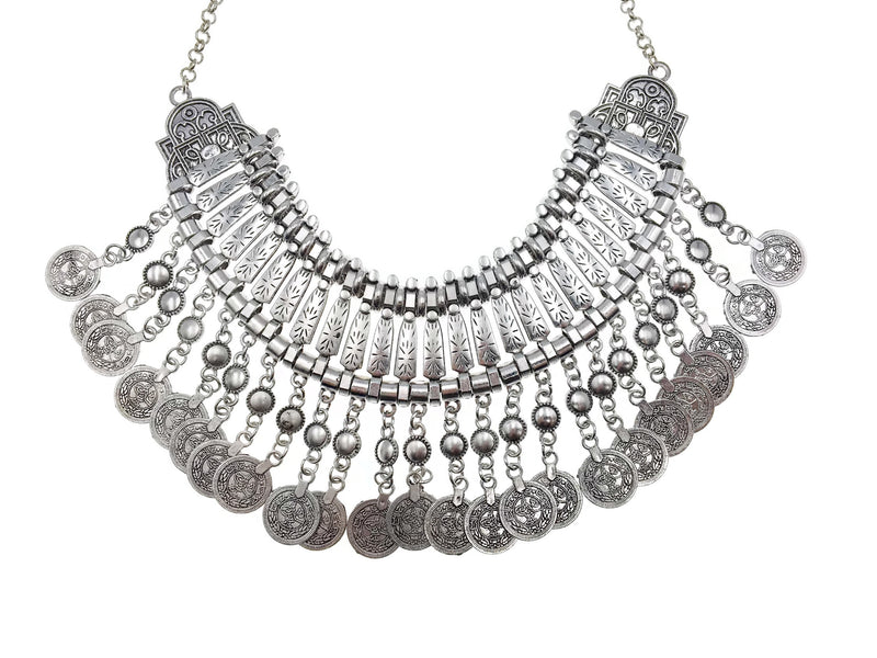 Silver Turkish Coin Necklace