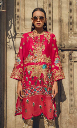 Fuschia Embroidered Tunic