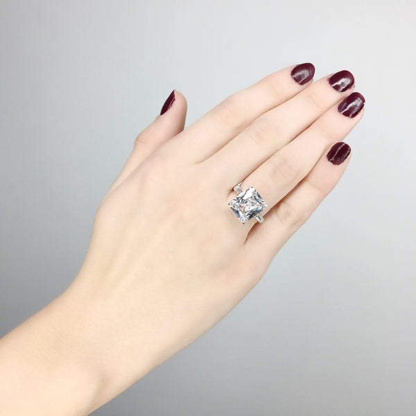 Princess Cut Three Stone Ring