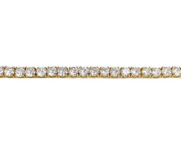 Yellow Gold Diamondesque Tennis Bracelet