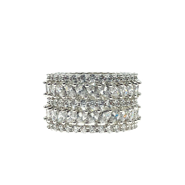Diamondesque Eternity Band Ring