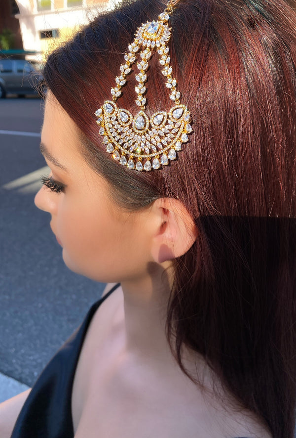 Diamondesque Starburst Jhoomar headpiece