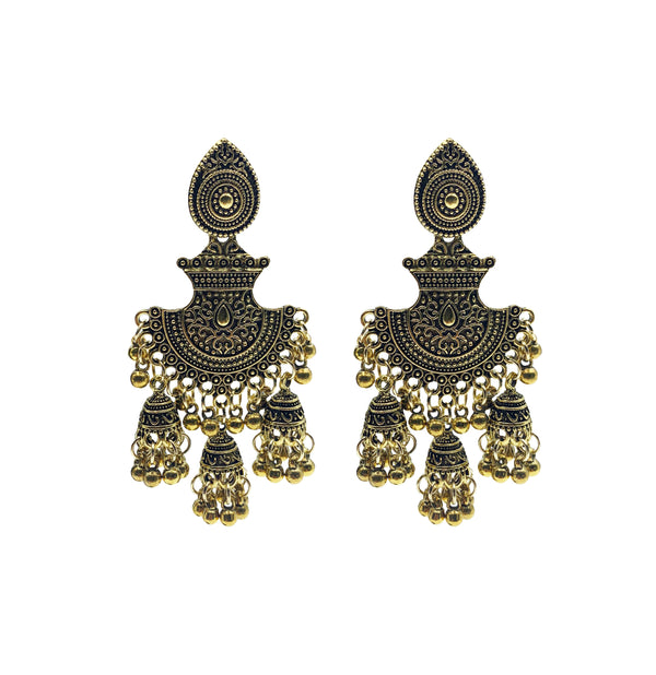 Antique Turkish Fan Earrings