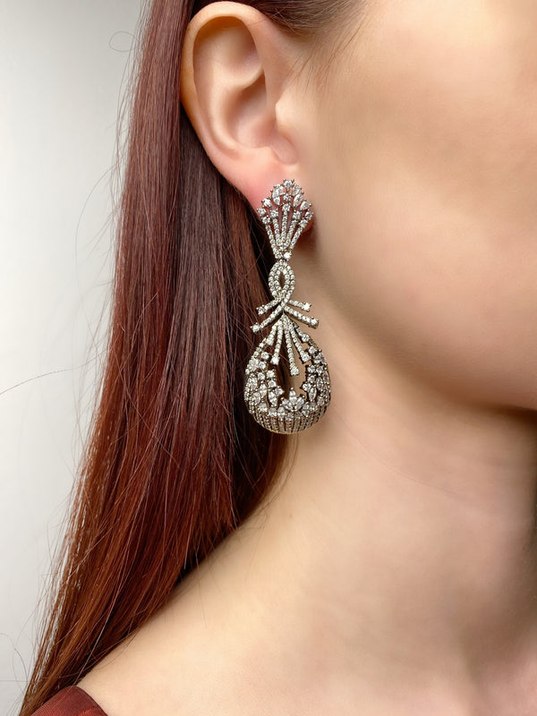 Antique Dome Twist Earrings