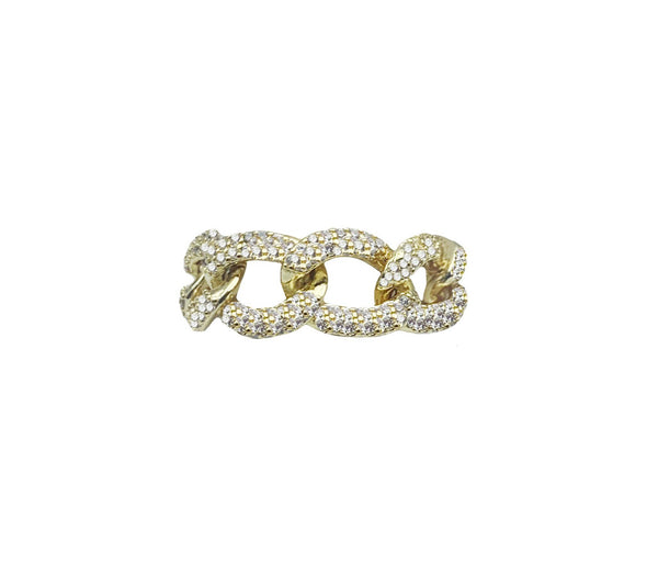 Soft Chain Pave Ring