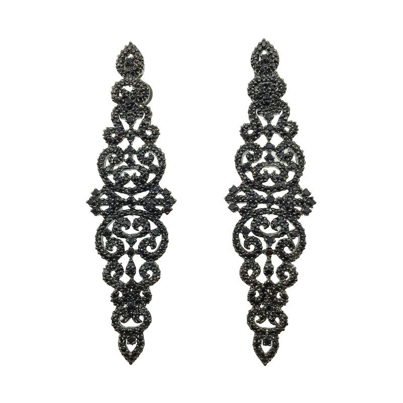 Victorian Onyx Earrings