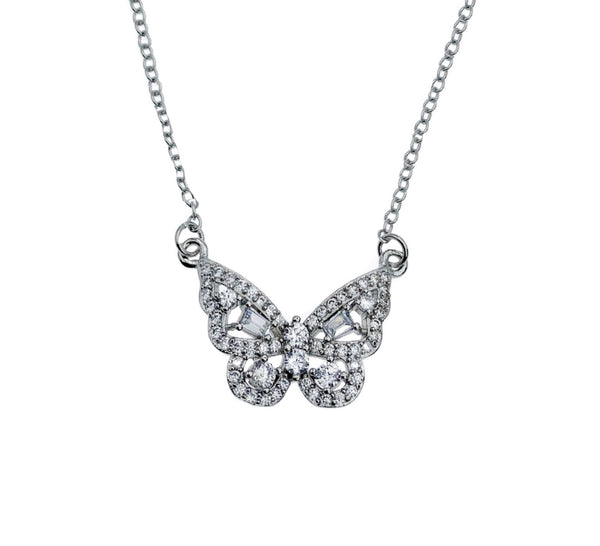 Petite Butterfly Pendant Necklace