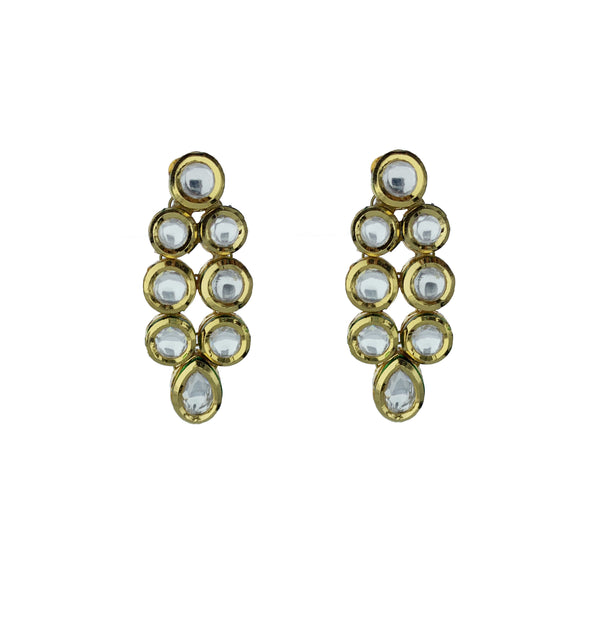 Kundan Teardrop Earrings