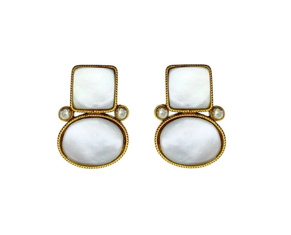 Untreated Turkish Pearl Stone Earrings