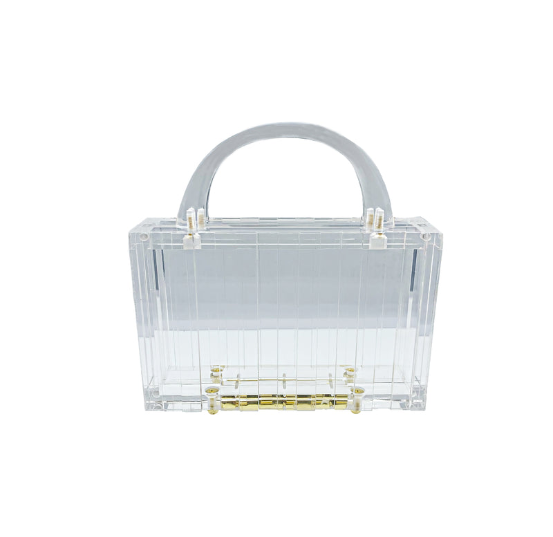 Clear Acrylic Top Handle Clutch