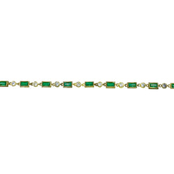 Emerald Dot Dash Choker Necklace
