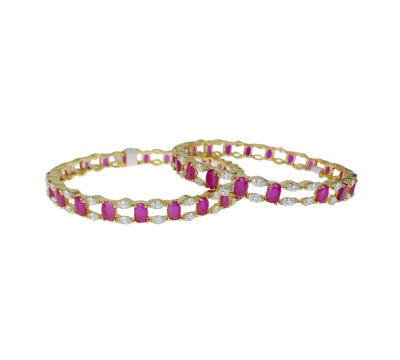 Ruby Diamondesque Bangle