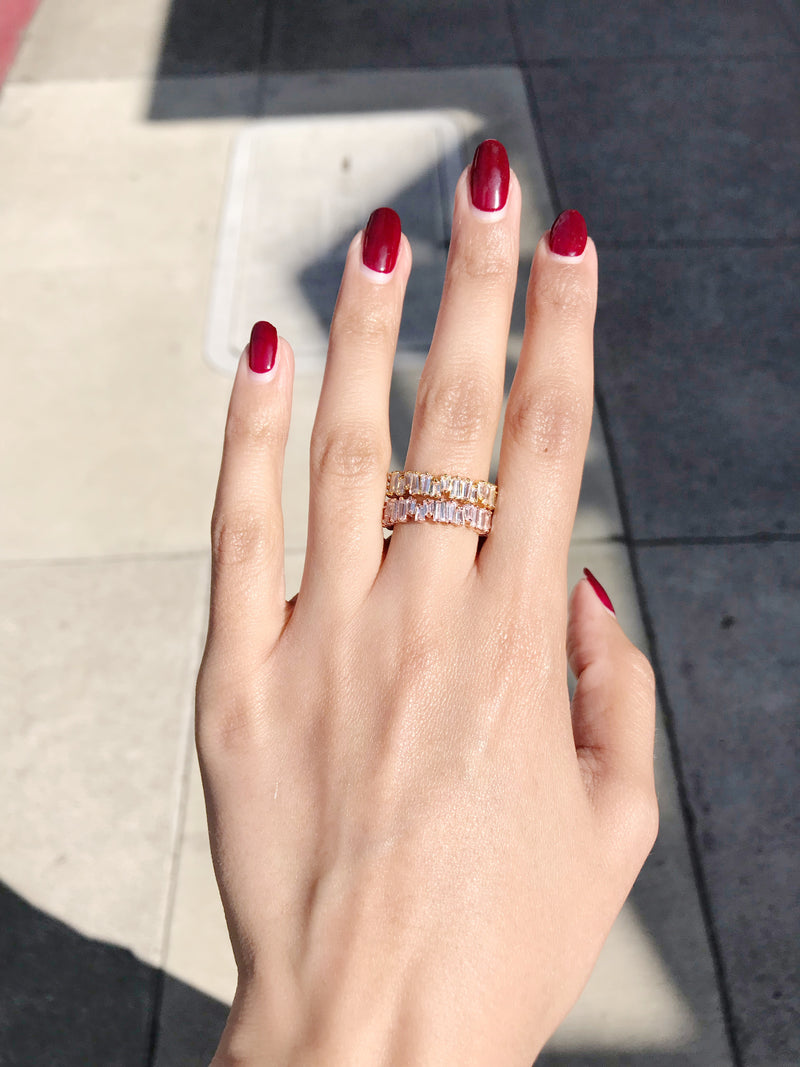 Baguette All Around Ring