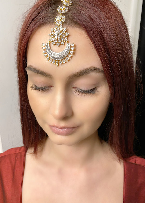 Crescent Teardrops Tikka Headpiece