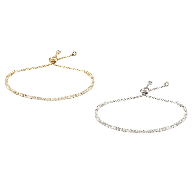 Dainty Diamondesque Line Bracelet