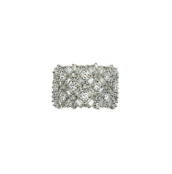 Diamondesque Baguette Cuff Ring