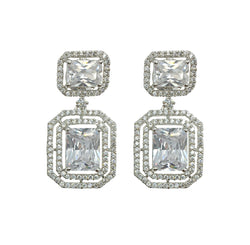 Layered Diamondesque Earrings