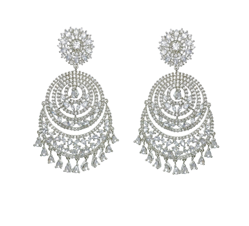 Diamondesque Tiered Circle Earrings