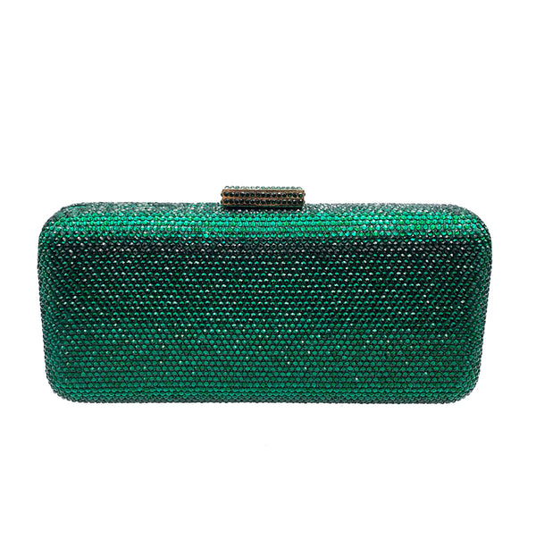 Emerald Oblong Crystal Clutch