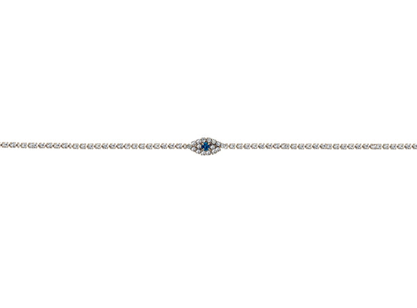 Emerald Evil Eye Anklet