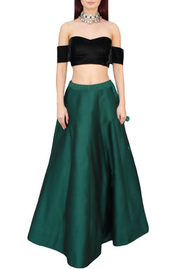 Emerald Lehnga Skirt