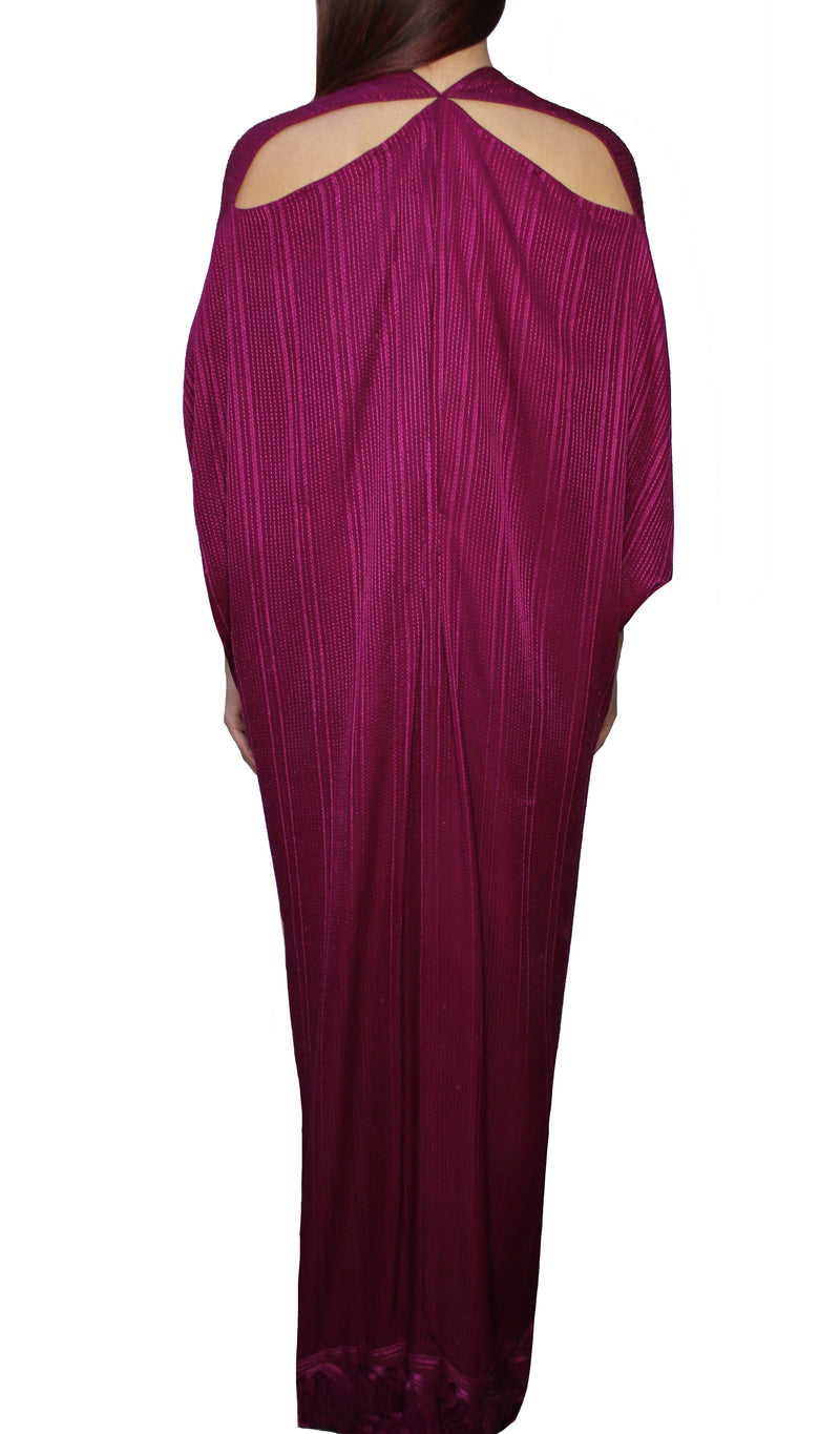 Fuschia Embroidered Kaftan