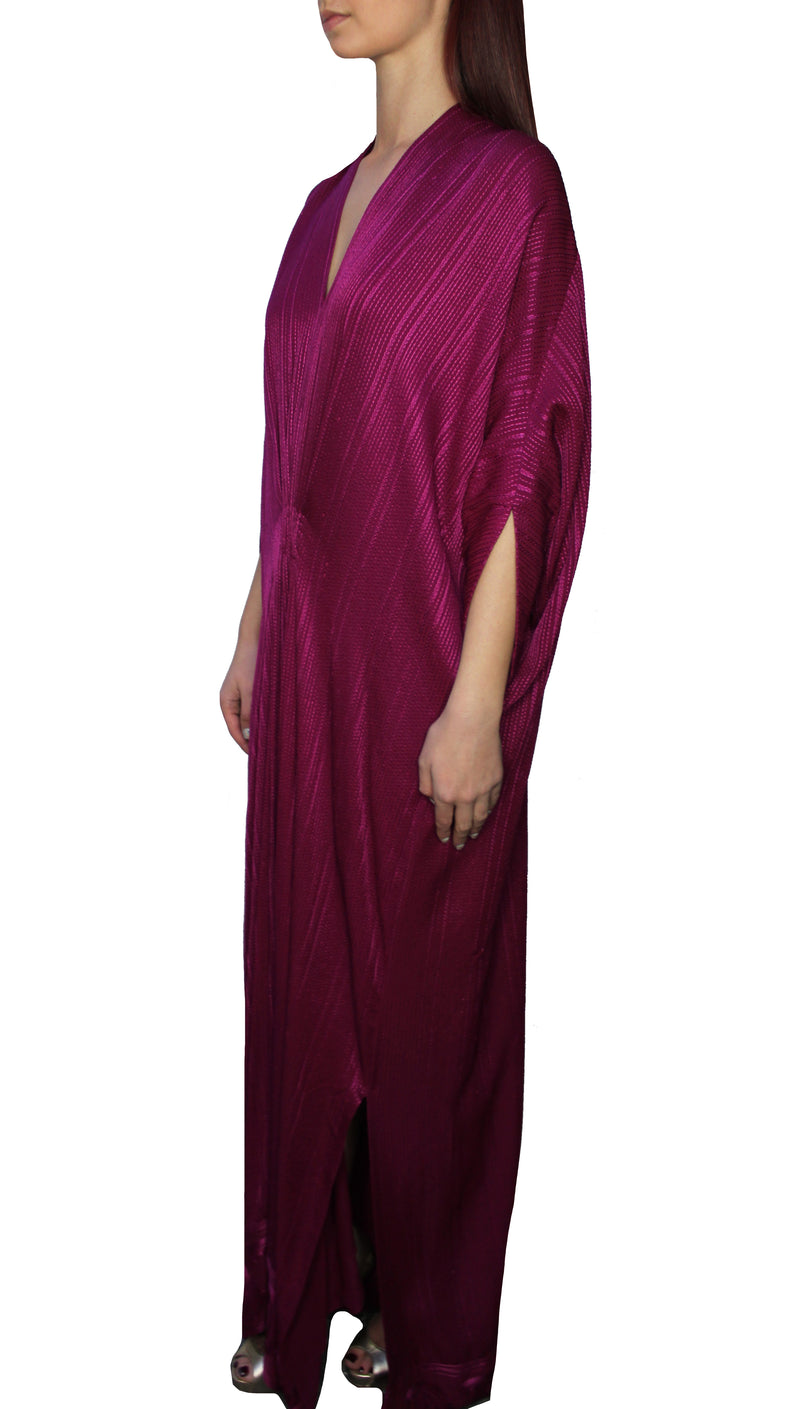 Fuschia Pink Embroidered Kaftan