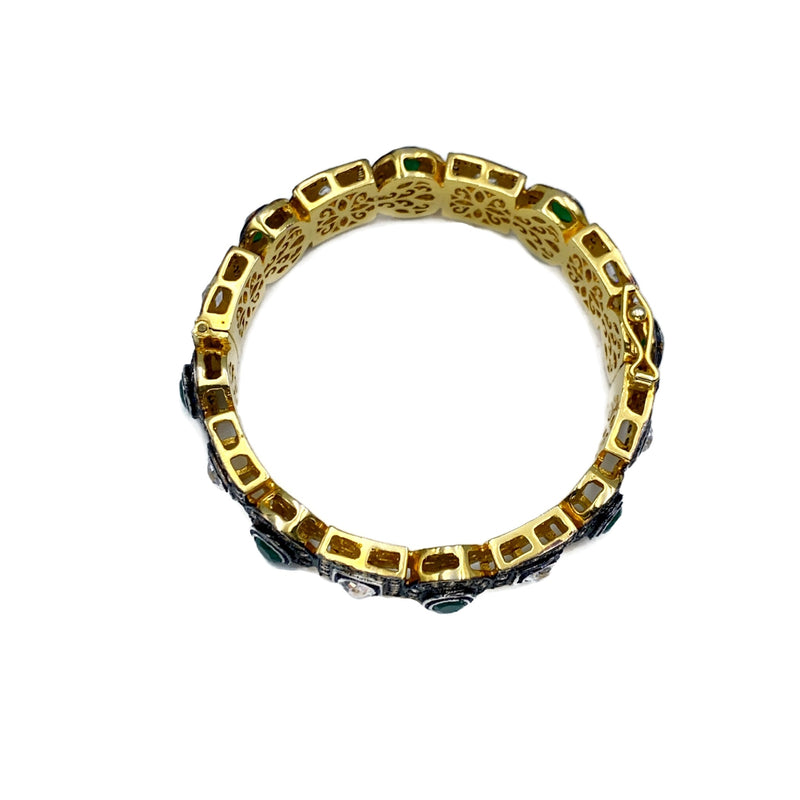 Geo Zircon Clasp Bangle