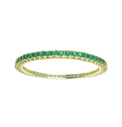 Gold Emerald Solitaire Bangles