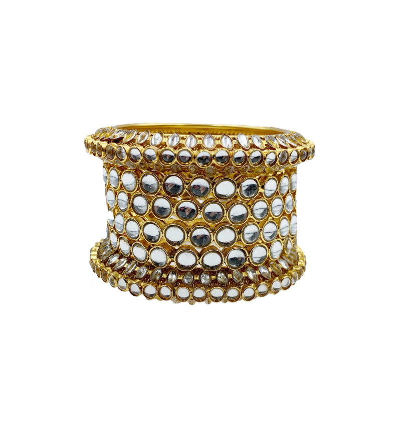 Gold Kundan Bangle Set
