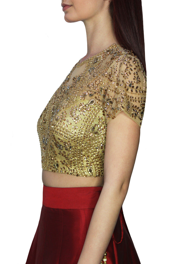 Gold Kundan Beaded Blouse