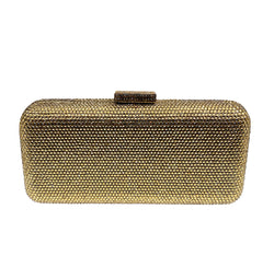 Gold Oblong Crystal Clutch